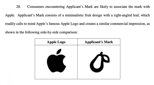 Apple подала в суд на логотип груши
