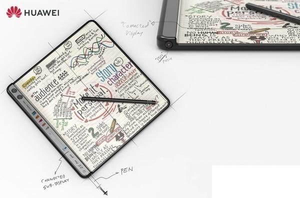 Huawei запатентовала складной смартфон с дополнительным экраном
