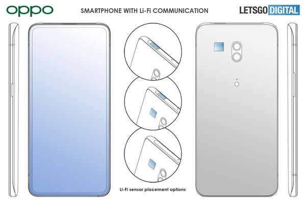 Круче Wi-Fi: OPPO патентует смартфон с технологией Li-Fi