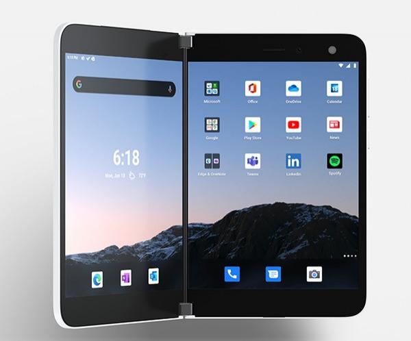 Microsoft выпустила двухэкранный андроид-смартфон Surface Duo