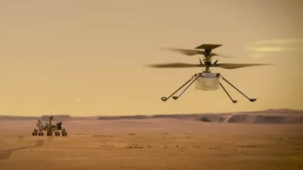 NASA протестировала марсианский вертолет в космосе