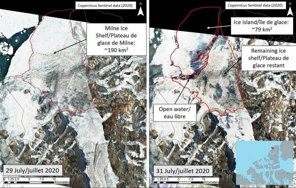 От ледника Канады откололся айсберг размером с Чернигов