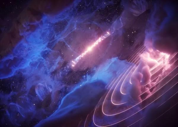 """В космическом облаке газа обнаружили загадочное """"сердцебиение"""""""