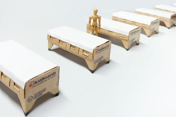 Для борьбы с коронавирусом создали кровать из картона
