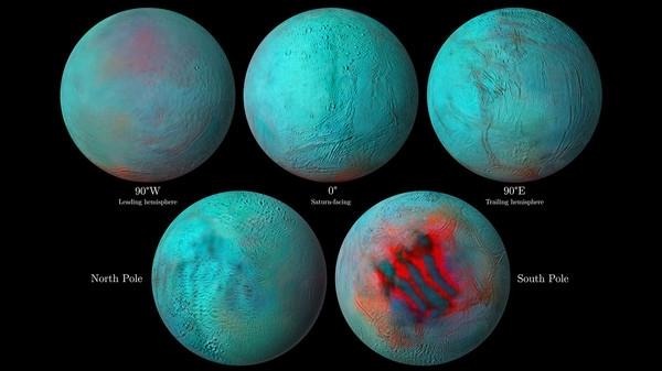На Энцеладе обнаружили намеки на свежий лед в северном полушарии
