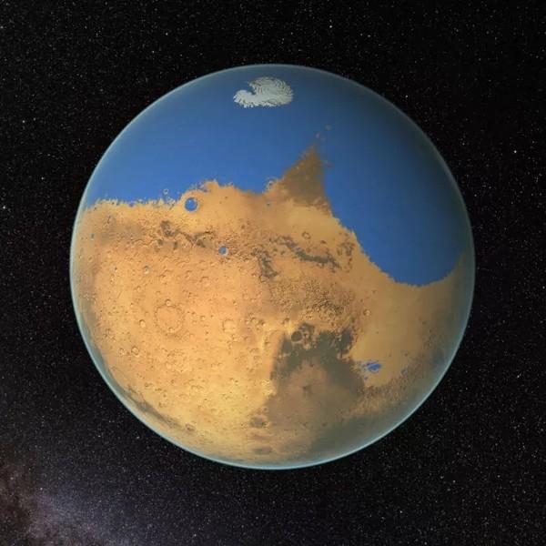На Марсе подо льдом могут скрываться суперсоленые озера