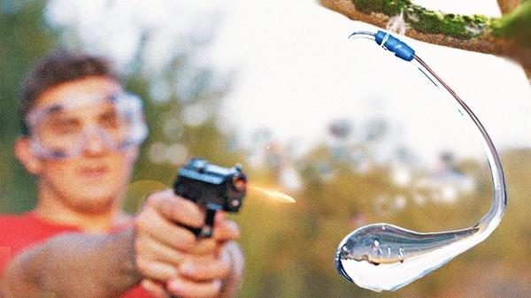 Огромная капля Руперта против пистолета: Эксперименты