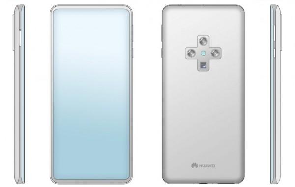 Поставили крест: Huawei запатентовал смартфон с необычной камерой