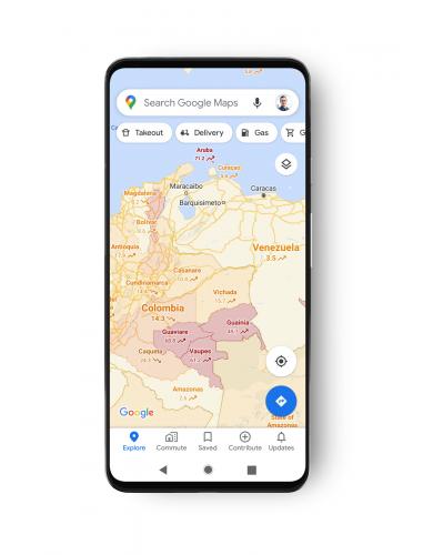 В Картах Google отметят районы с коронавирусом