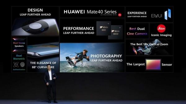 Huawei показал смартфоны серии Huawei Mate 40