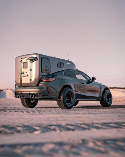 Цифровой художник превратил BMW M4 в идеальный автофургон (8 фото)