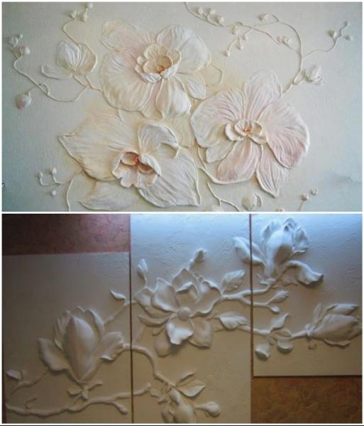 Идеи декора с рельефной гипсовой лепкой на стенах